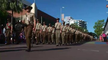 The Anzac Parade in Darwin. (9NEWS)
