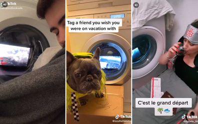 TikTok users turn laundry into plane