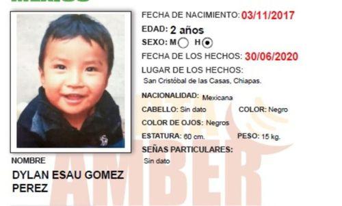 Dylan Esaú Gómez Pérez disappeared at a public market in San Cristobal.