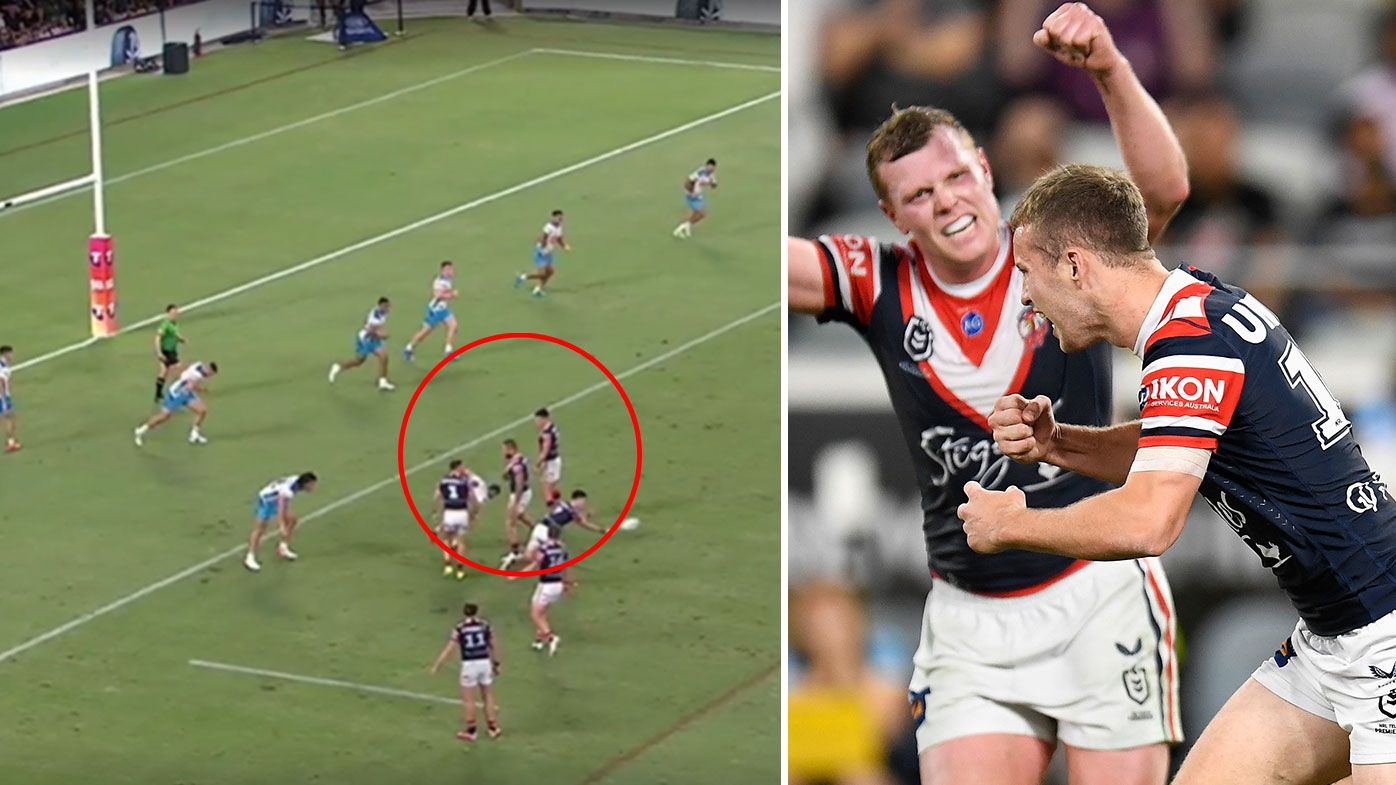 NRL defends Roosters young gun Sam Walker's match-winner against Titans despite claims of wall
