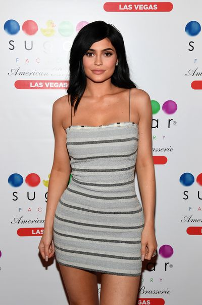 Kylie Jenner wearing Aussie designer Bec & Bridge at the Sugar Factory American Brasserie at the Fashion Show in Las Vegas, April, 2017