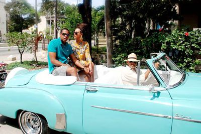 The power duo took their fifth wedding anniversary trip to Cuba... a country Americans aren't allowed to visit. After an uproar across the US, President Barack Obama was forced to deny any knowledge of the trip or allowing special licenses for the pair.<br/><br/>Image: Snapper