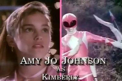 Amy Jo Johnson: The Pink Ranger/Kimberly Ann Hart<br/><br/>Image: Saban Entertainment