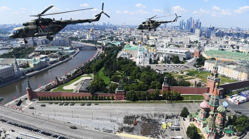 200624 Russia military parade Red Square Moscow WWII Nazi Germany defeat anniversary coronavirus COVID-19 delay