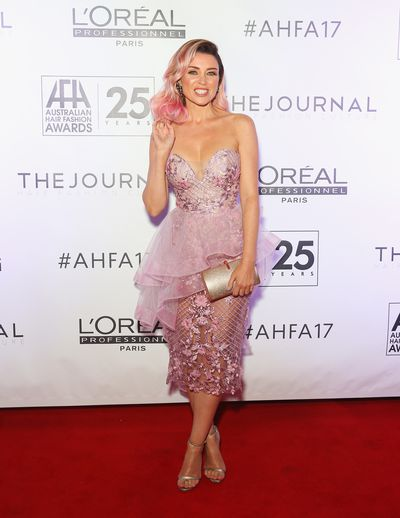 Dannii Minogue at the 2017 Australian Hair Fashion Awards in Sydney, April, 2017