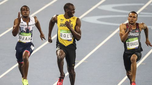 Easy does it: The world's fastest man Usain Bolt clean sweeped the 100m, 200m and sprint relay events in three successive Games.