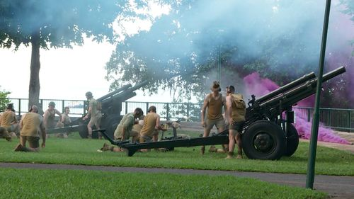Commemorations take place in Darwin. (9NEWS)
