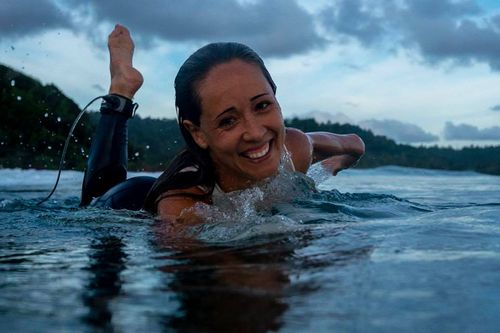 Ms Walker's social media is littered with pictures of her enjoying the surf.