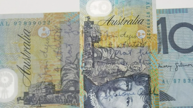 When Long was arrested he confessed to a police officer who scribbled it on a 10 dollar note.