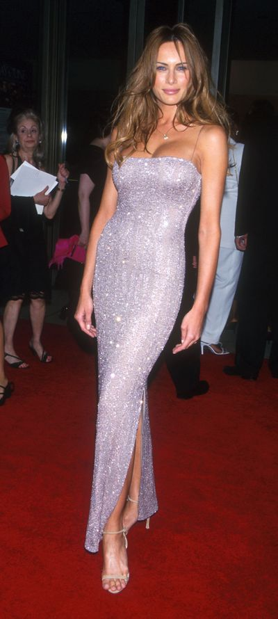 Melania Trump at one of her first red carpet appearances in 1998 in New York City
