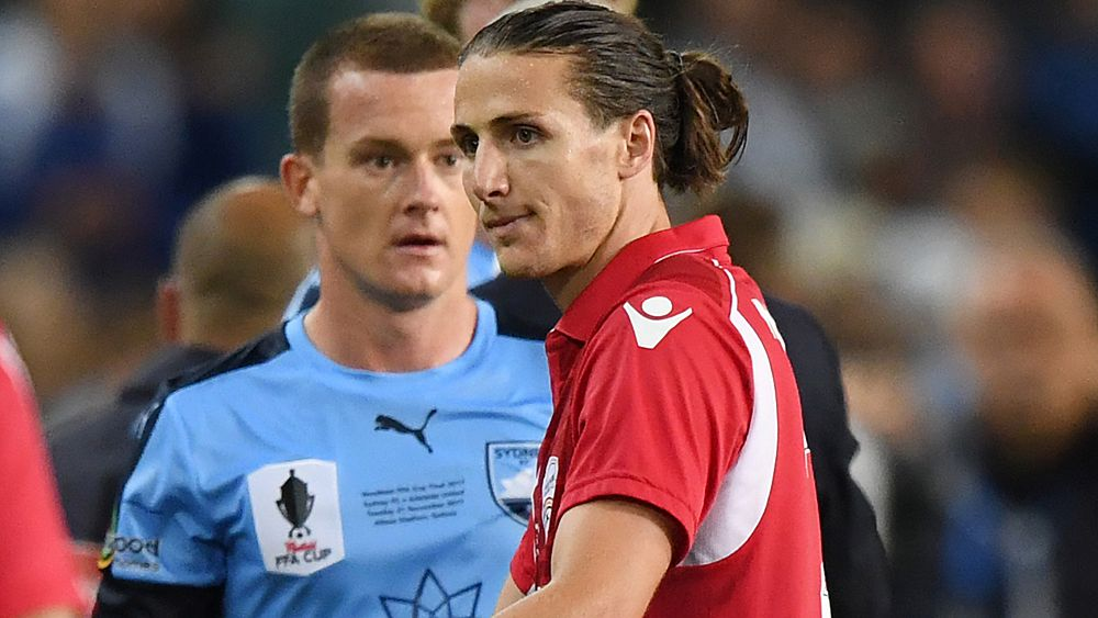 FFA Cup: Adelaide's Michael Marrone cited for ball boy scrap