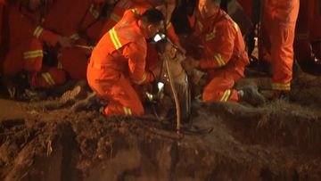 Rescuers pull toddler from well in northwest China city