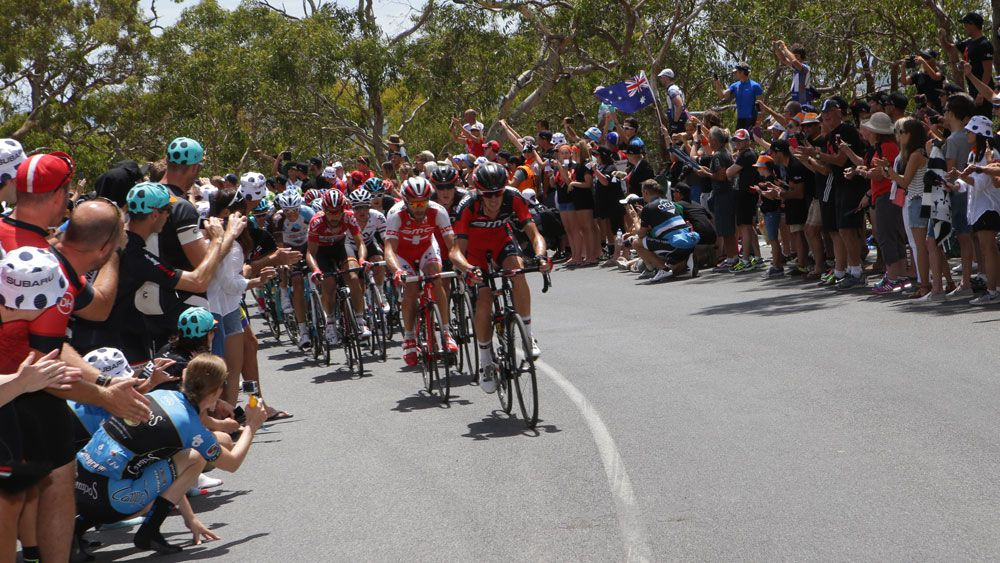The race to the top of Wilunga Hill remains a key point of the Santos Tour Down Under.