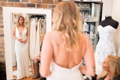 "<p>The long-awaited series return of <a href=""https://thefix.nine.com.au/married-at-first-sight"" target=""_blank"" draggable=""false""><em>Married at First Sight</em></a> is back, and while there is always loads of drama, all eyes are on the beautiful brides.</p> <p>The last single took the plunge last night and walked down the aisle to an unfamiliar face.</p> <p>Blair, 31, from New South Wales had her heart broken when her husband of two years cheated. She now wants more than anything to find her true soul mate and is hopeful she will do just that by putting her trust in the experiment.</p> <p>The new bride took her groom's breath away in a custom design by bridal designer <a href=""http://lillimarcs.com.au/"" target=""_blank"" draggable=""false"">Lilli Marcs</a>.</p> <p>It's safe to say all the ladies have wowed their husbands-to-be in their gowns on the series so far. Take a closer look at the dresses they chose for their big day.</p>"
