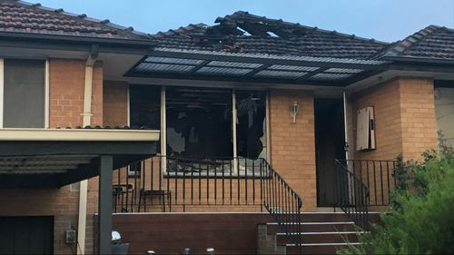 A fire has torn through a house at Lalor in Melbourne's north.