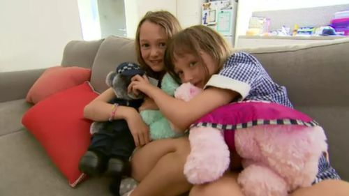 The sisters told 9News they adore their special gifts given to them from police.