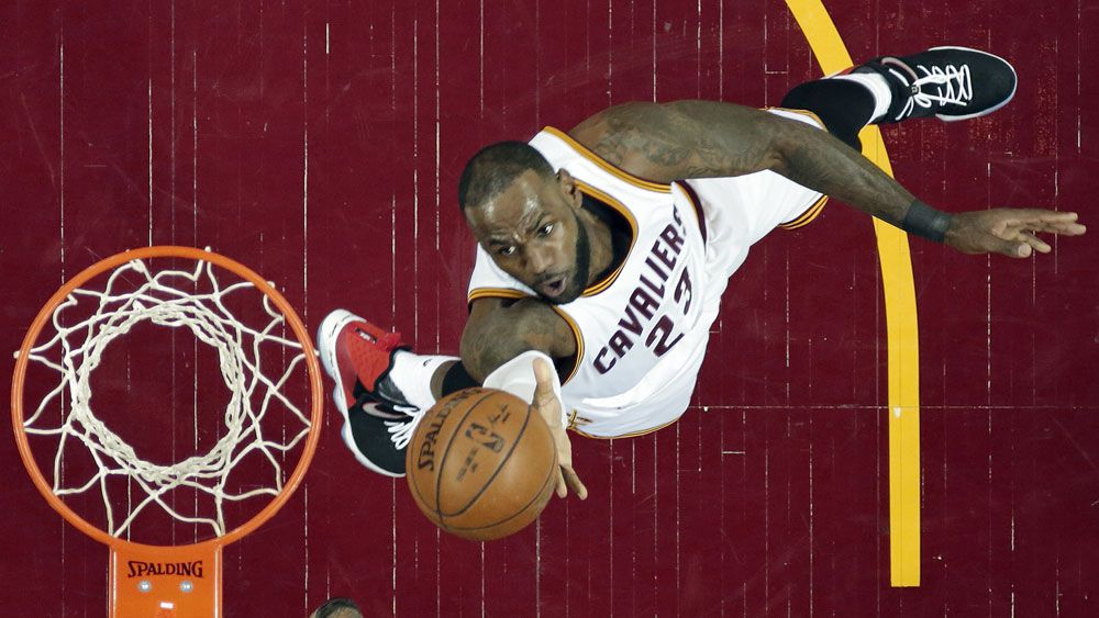 LeBron James moved into second place on the all-time NBA playoff scorers list. (AAP)