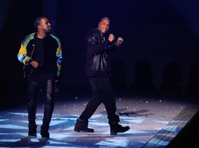 Kanye West and Jay Z perform at the 2011 Victoria's Secret Show