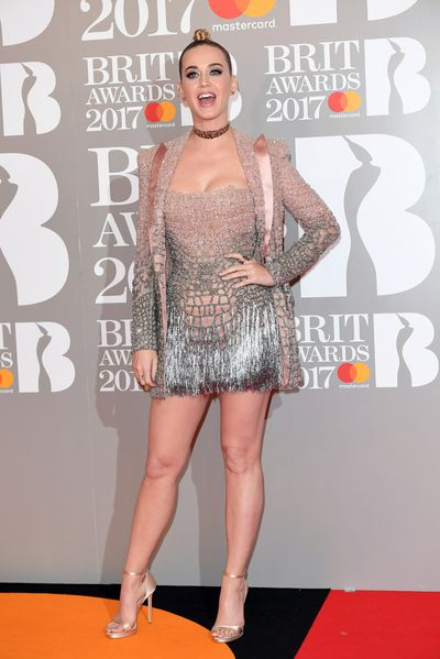 Katy Perry attends The BRIT Awards 2017 at The O2 Arena on February 22, 2017 in London
