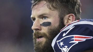 New England Patriots player Julian Edelman led police to a teenager who posted a threat towards his school.