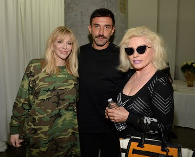 Courtney Love, Riccardo Tisci and Debbie Harry.