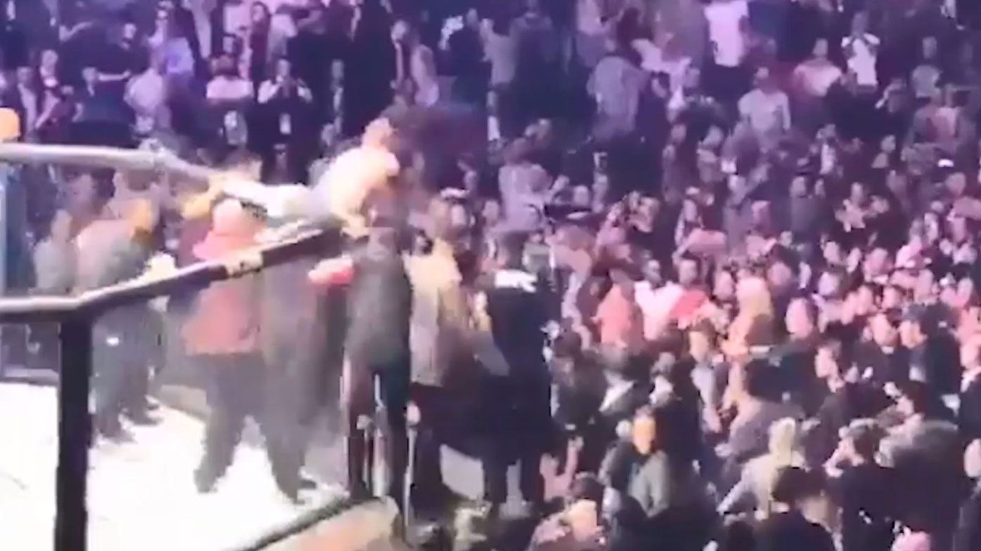 UFC 229: New footage shows Conor Mcgregor attempting join brawl, throws punches
