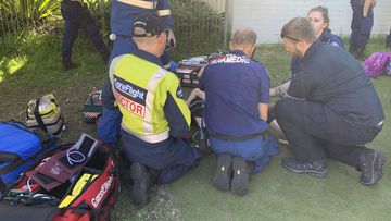 A six-year-old girl has been airlifted to hospital after impaling her leg in Sydney's north.