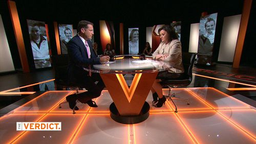 Ms Lambie was interviewed by host Karl Stefanovic. (Channel 9)