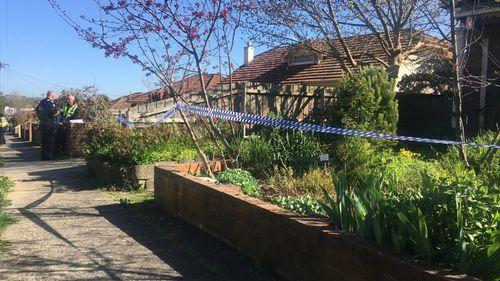 Police have cordoned off the scene in Morwell. (Iza Staskowski)