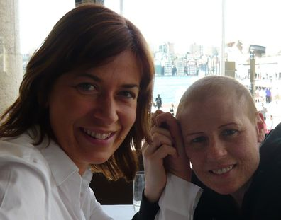 Pam and Sue LGFB plus cancer battle