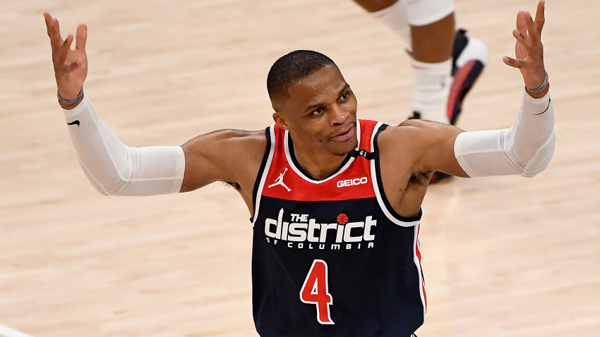Russell Westbrook records third-ever 20 rebound, 20 assist game in Washington Wizards win