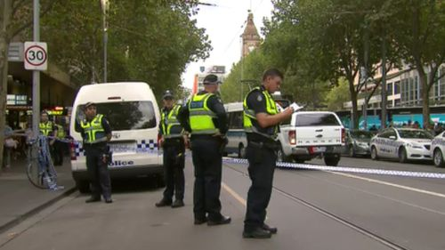 A heavy police presence were at the scene this afternoon. (9NEWS)