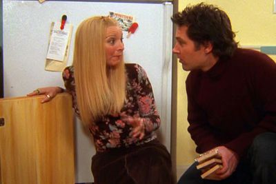 """<div align=""""left""""><B>Played by:</b> Lisa Kudrow.</p><br/>""""That wasn't a date! That was, that was just friends getting together…having sex."""" Forget Joey, Phoebe was <i>Friends</i>' secret sex addict. Don't be fooled by her lovable, naïve singer-songwriter exterior, Phoebe's an animal. She never admitted to much, but we do know she did it in a park with her police officer boyfriend, handcuffed her husband to a pipe and once worked as a phone sex operator.</div>"""