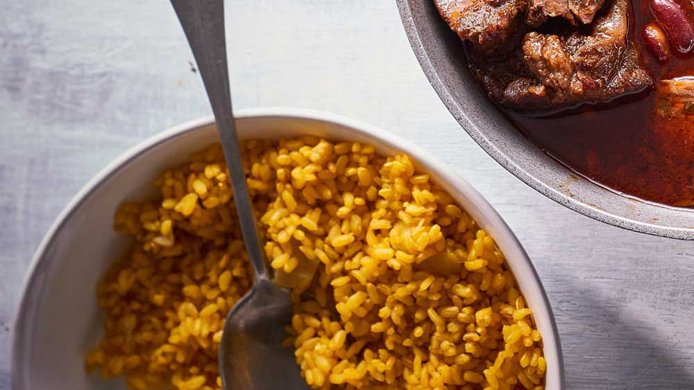 Easy turmeric brown rice recipe