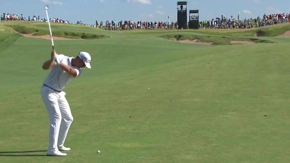 Sweden's Henrik Stenson sinks eagle at US golf Open