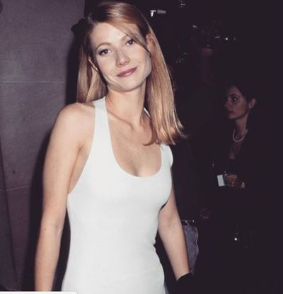 Gwyneth Paltrow in Calvin Klein at the 1995 Met Gala Ball in New York City