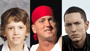 The evolution of Eminem's face