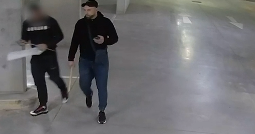 Police allege the men broke into an apartment building storage complex and stole more than 200 furniture items.