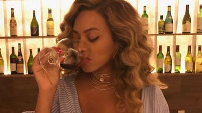 Sip, sip, sipping and setting the internet on fire! Image: Instagram/@beyonce