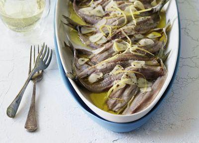 "Recipe: <a href=""http://kitchen.nine.com.au/2016/05/17/13/44/marinated-sardines"" target=""_top"">Marinated sardines</a>"