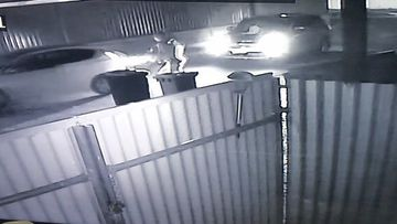 CCTV has captured a dramatic pursuit in Adelaide's west overnight.