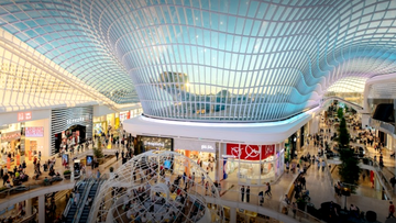 Chadstone shopping centre in Melbourne is seen packed with customers in 2017.