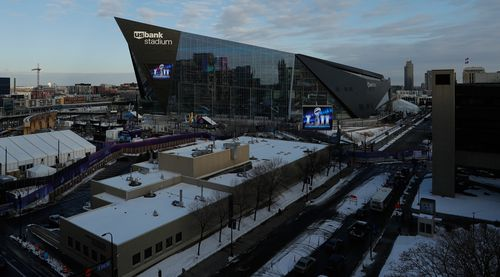 The Super Bowl is being held at US Bank Stadium in Minneapolis. (AAP)