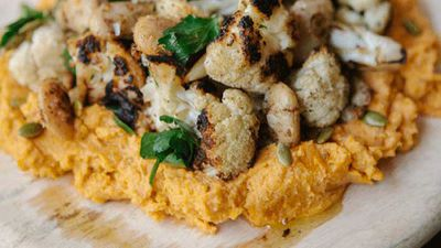 "<a href=""http://kitchen.nine.com.au/2016/06/17/12/53/chargrilled-cauliflower-170616"" target=""_top"">Fried butterbeans and pumpkin hummus</a>"
