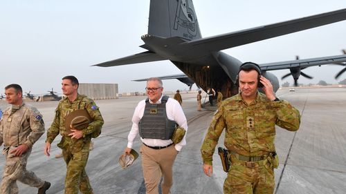 It was the Liberal prime minister's first visit to the Middle East after taking on the top job in August.