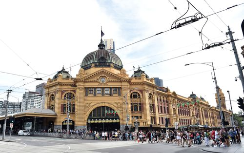 Flinders Street station was among Melbourne landmarks the trio planned to target.