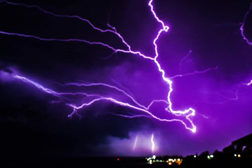 Extreme images of lightning in Kiama last night.