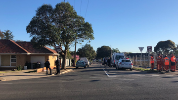 A man has been found dead in the yard of a North Plympton home.