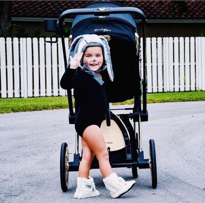 "<p>Wheely cute: Tiny fashionista and Instagram sensation, <a href=""https://www.instagram.com/taylensmom/?hl=en"" target=""_blank"">Taylen</a>.</p>"