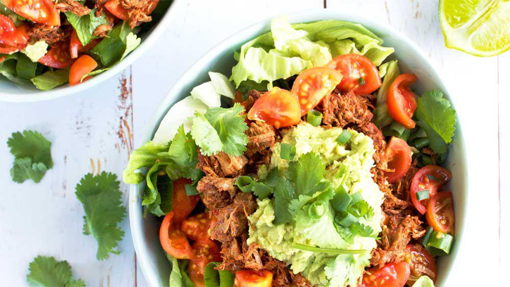 Live Love Nourish's healthy beef burrito bowl recipe